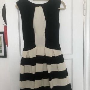 Black and cream striped dress
